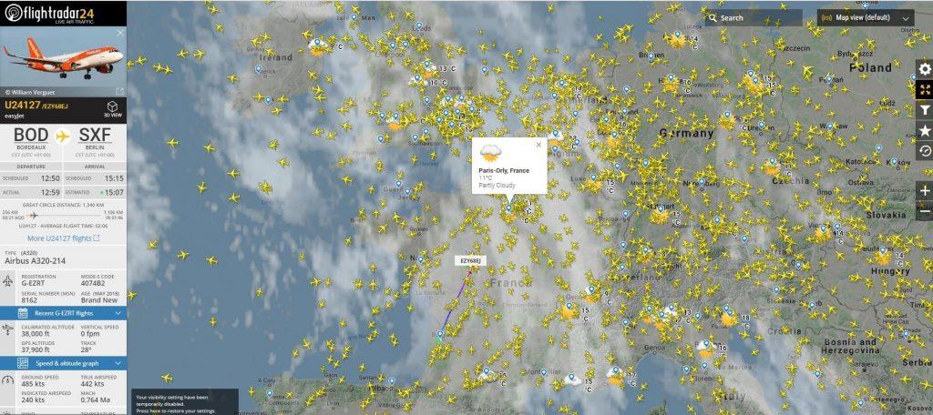 Flightradar24-plein ecran
