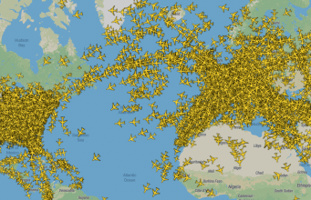 Couverture du radar PlaneFinder