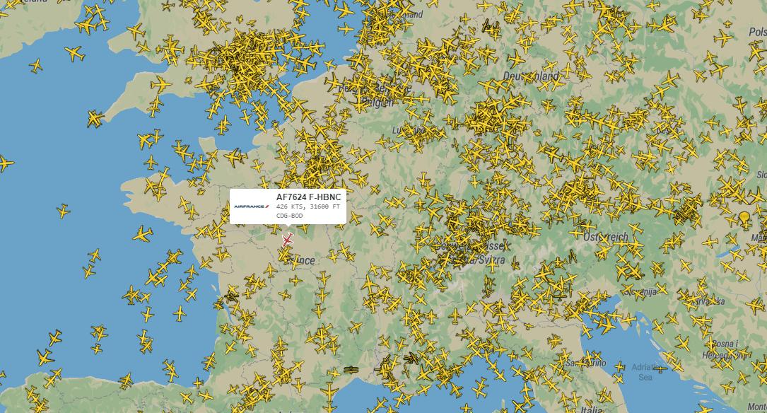 Plane Finder – le service du traqueur des avions en ligne