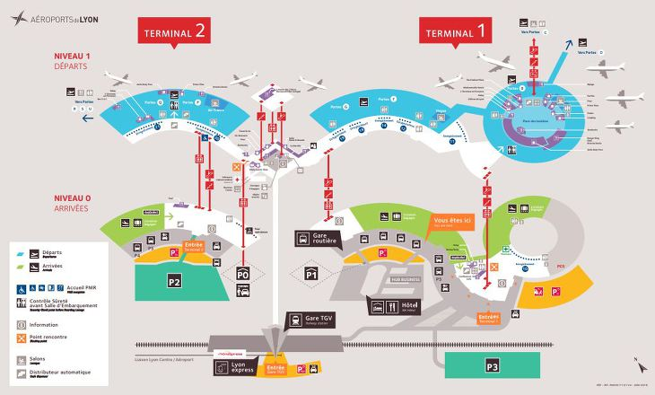 Terminaux de l'aéroport