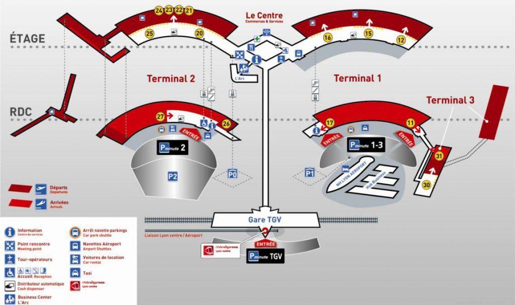 Aeroport Lyon Terminaux